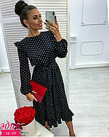 Женское нарядное платье 385 (42-44, 46-48) (цвет черный) СП