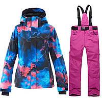 Лыжная куртка, лыжные штаны, Лыжный костюм женский, Костюм для сноубординга женский.