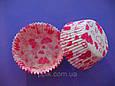 Тарталетки (капсулы) бумажные для кексов, капкейков Розовые Сердечки, фото 3