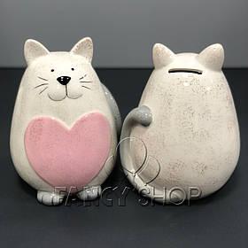 """Копілка - статуетка """"Котик з сердечком"""", мікс, 17 см, Копилка - статуєтка """"Кот с сердцем"""""""