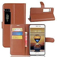Чехол-книжка Litchie Wallet для Meizu Pro 7 Коричневый