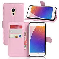 Чехол-книжка Litchie Wallet для Meizu Pro 6 Светло-розовый