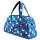 Сумки фитнес Tiger спортивная сумка  сердечки голубые, фото 2