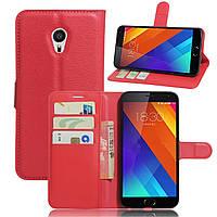 Чохол-книжка Litchie Wallet для Meizu MX6 Червоний