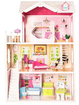 Ігровий ляльковий будиночок для барбі Ecotoys California 4107wog 124см!, фото 2