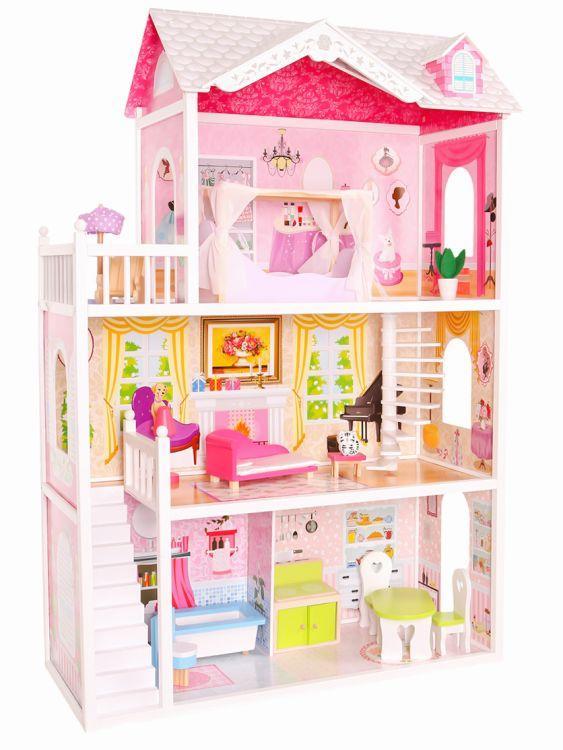 Ігровий ляльковий будиночок для барбі Ecotoys California 4107wog 124см!