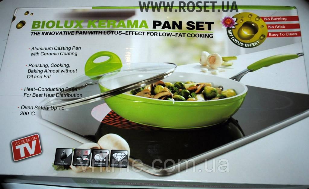 Сковорода з керамічним покриттям Biolux Kerama Pan