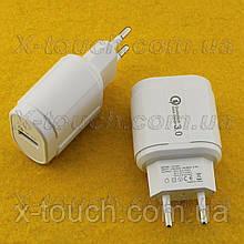 Блок живлення, мережева зарядка QC-007 QC3.0 для пристроїв. Quick Charge