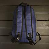 Стильный рюкзак Under Armour, андер темно-синего цвета с вставками кож зама черного цвета., фото 6