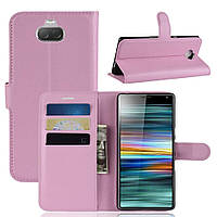Чехол-книжка Litchie Wallet для Sony Xperia 10 Светло-розовый