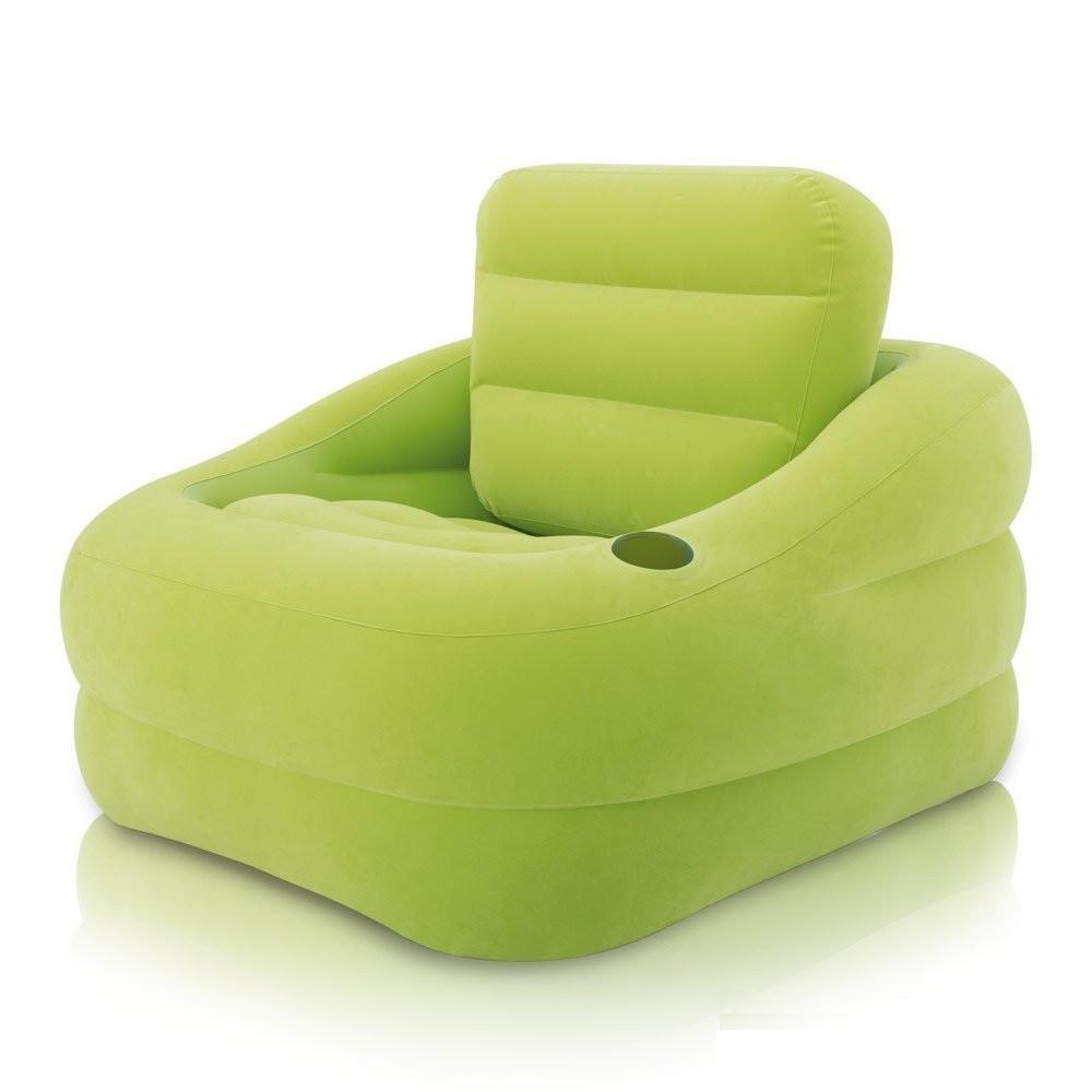 Надувное кресло Intex 68586 Зеленое