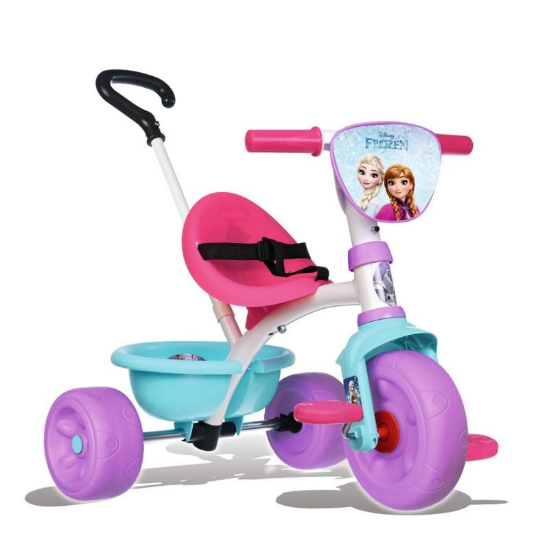 Детский трехколесный велосипед SMOBY ELZA с родительской ручкой и багажником