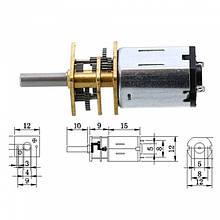 Мотор редуктор микро моторчик 12GAN20 100 об/мин 6В