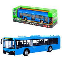 """Автобус инерционный 9690CD """"Автопром""""  свет, звук,в коробке 23-10-10 см"""
