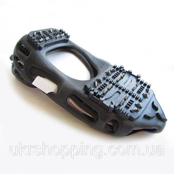 🔝 Шипы для обуви, накладки на обувь от гололеда, BlackSpur, 24 шипа, размер - S (33-36) | 🎁%🚚