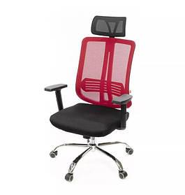 Кресло Сити хром Anyfix Красный (АКЛАС-ТМ)