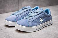Кеды женские  Converse, голубой (13841) размеры в наличии ► [  37 38  ]