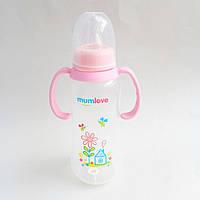 Бутылочка с домиком 300 мл розовая Mumlove, фото 1