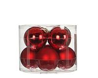 """Елочные шарики 8 шт., """"House of Seasons"""" комплект, цвет красный"""