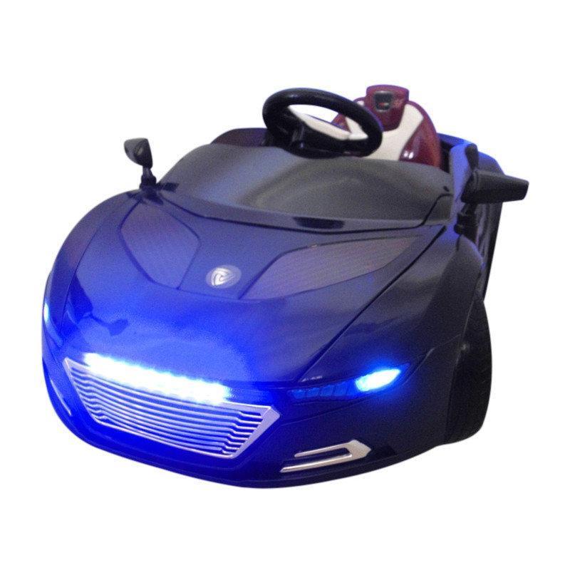 Детский электромобиль на аккумуляторе Cabrio А1 EVA с пультом управления Черный (чудомобиль)