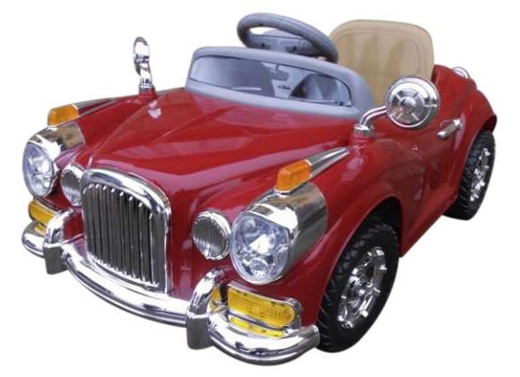 Детский электромобиль на аккумуляторе Cabrio Retro с пультом управления и музыкой MP3 (Красный)