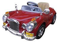 Детский электромобиль на аккумуляторе Cabrio Retro с пультом управления и музыкой MP3 (Красный), фото 1