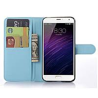 Чехол-книжка Litchie Wallet для Meizu MX5 Голубой
