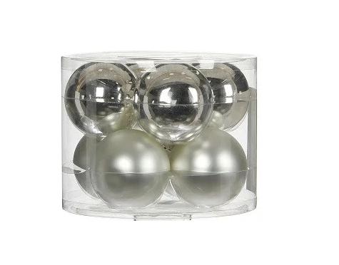 """Елочные шарики 8 шт., """"House of Seasons"""" комплект, цвет серый"""