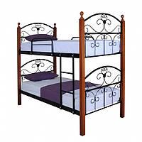 """Двоярусне металеве ліжко """"Патриція Вуд"""" (8 кольорів)"""
