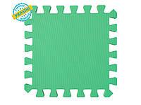 """Мягкий пол (коврик-пазл 50*50*1 см) Eva-Line """"Радуга"""" зелёный для школ, садиков и детских комнат"""