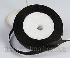 Лента люрекс 0.9  см Цвет черный