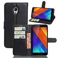 Чохол-книжка Litchie Wallet для Meizu MX6 Чорний