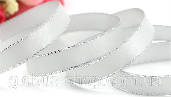 Лента люрекс 0.9 см Цвет белый серебро