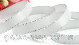 Стрічка люрекс 0.9 см Колір білий срібло