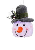 """Декоративная фигурка """"Снеговик"""", 14 см., """"Luca Lighting"""", серая шляпа"""