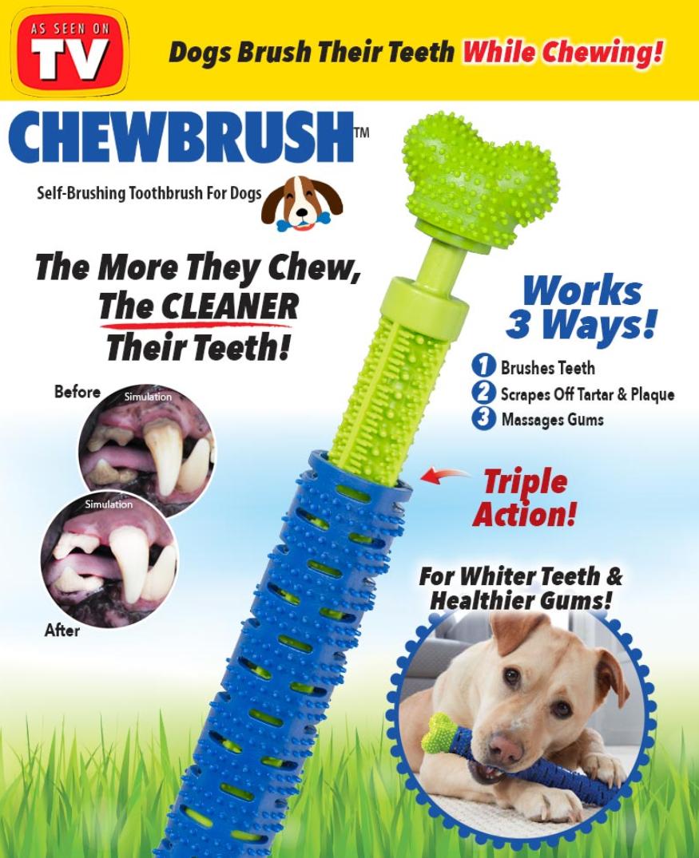 Зубная щетка для собак Сhewbrush   Игрушка для чистки зубов уигрушка для зубов собак собак