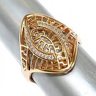 Кольцо фирмы Xuping.Цвет: позолота .Камни: белый циркон. Есть 16р.17р.  Ширина: 23 мм.