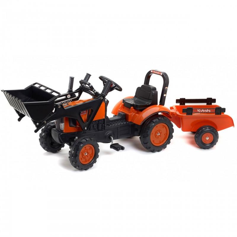 Трактор педальный c прицепом и ковшом Kubota Falk 2065AM