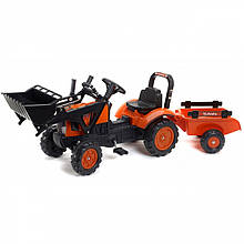 Педальний Трактор c причепом і ковшем Kubota Falk 2065AM