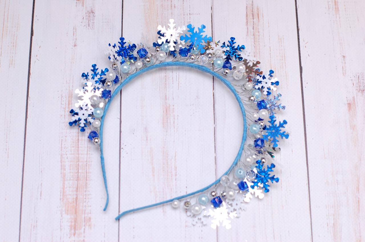 Новогодний обруч - корона для снежинки 242 Об