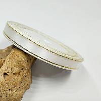 Стрічка люрекс 0.9 см Колір білий золото