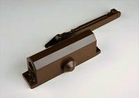 Доводчик (дотягувач) дверной ТМ Henten №3 до 65 кг коричневый для дверей ПВХ
