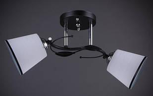 Люстра на две лампы AR-004828 черная с хромом