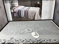 Махровая простынь с бахромой Pupilla Eliz gri, махра/жаккард. 220х240см