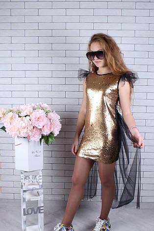 Платье нарядное для девочки с пайетками р.134-164 опт, фото 2