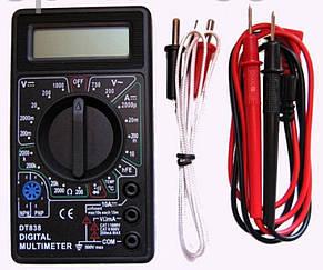 Мультиметр DT-838. Вольтметр. Тестер. + щупы + термопара + крона, фото 2