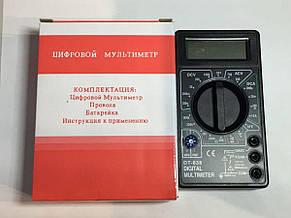 Мультиметр DT-838. Вольтметр. Тестер. + щупы + термопара + крона, фото 3