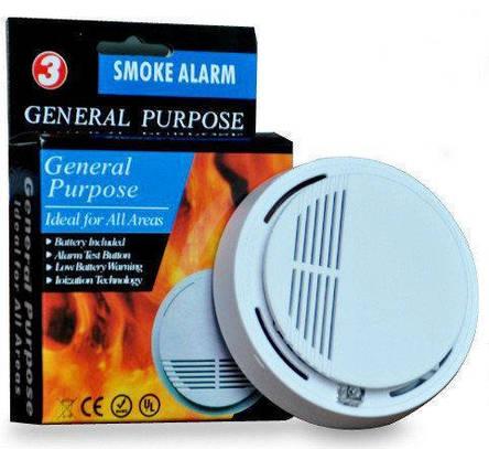 Датчик дыма для домашней сигнализации JYX SS168, Беспроводной датчик для задымления в помещении, Детектор дыма, фото 2