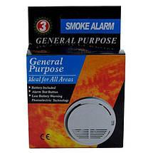 Датчик дыма для домашней сигнализации JYX SS168, Беспроводной датчик для задымления в помещении, Детектор дыма, фото 3