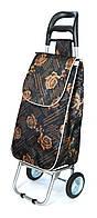 Хозяйственная сумка - тележка с железными колесами Shoping chocolate rose, фото 1